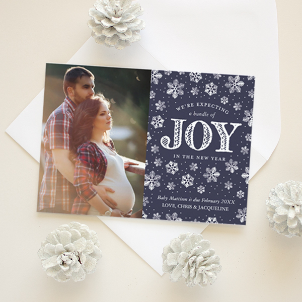 holiday pregnancy announcement christmas card