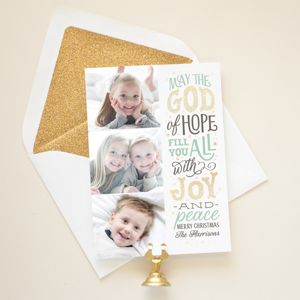 hand lettering christmas card