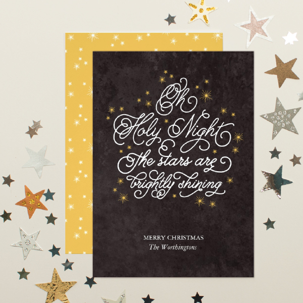 religious christmas greeting card