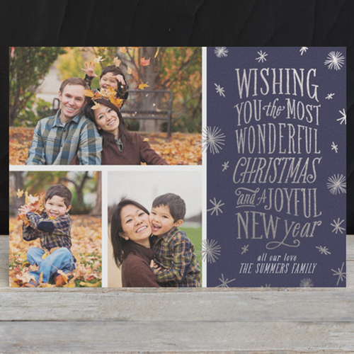 foil pressed christmas card