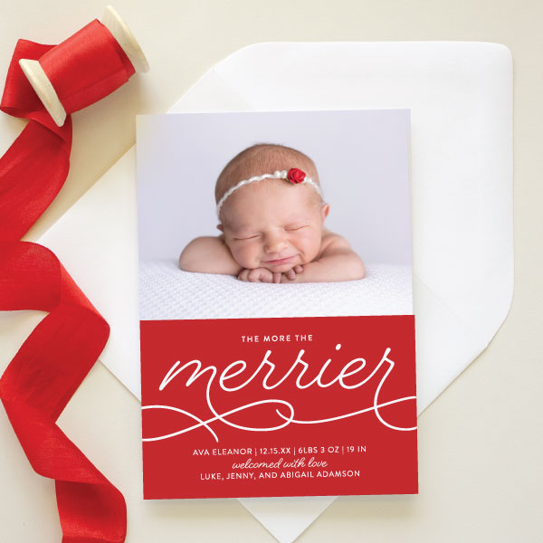 new baby holiday card