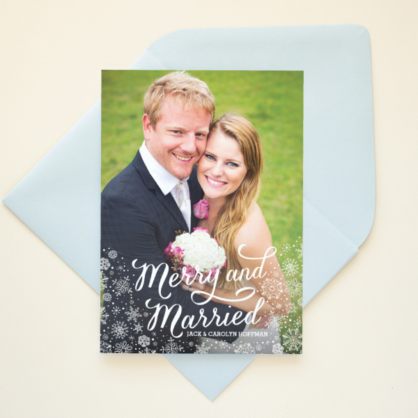 newlywed married first christmas card