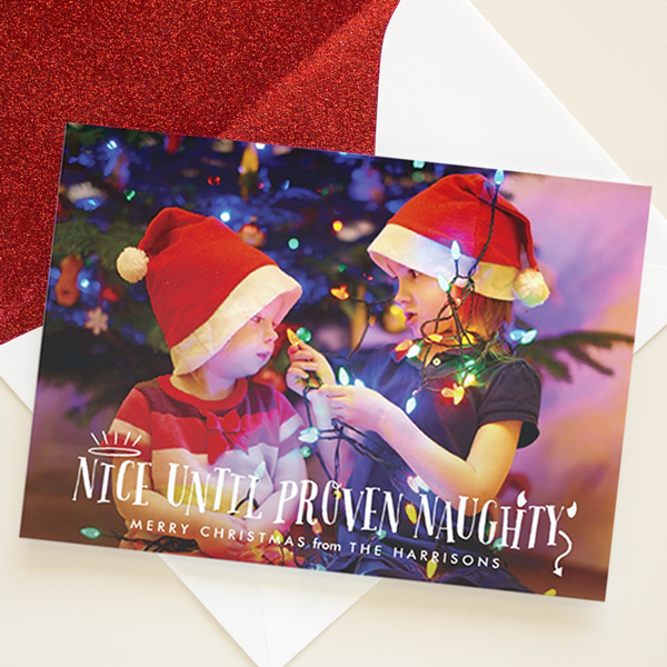 naughty or nice funny holiday card