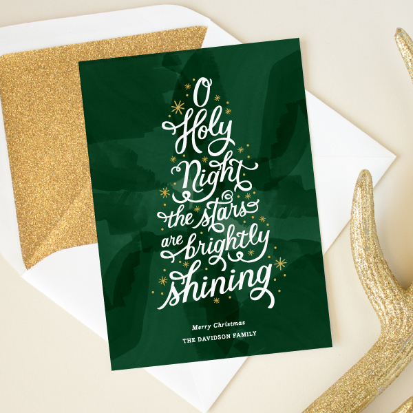 hand lettering christmas card religious greeting