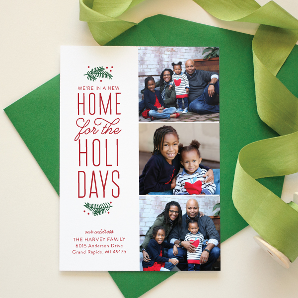 holiday moving announcement christmas card