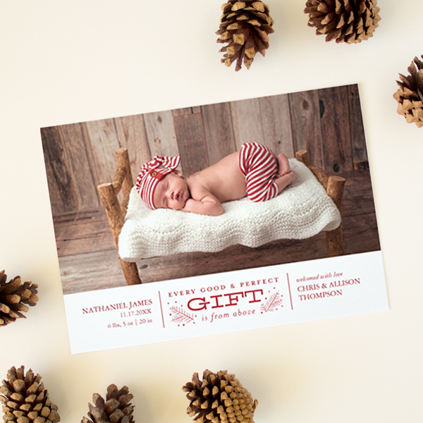 every good and perfect gift christmas birth announcement