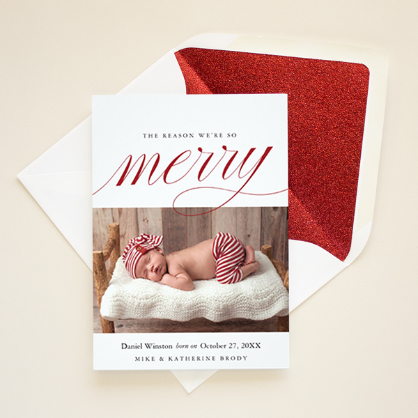 christmas birth announcement christmas card