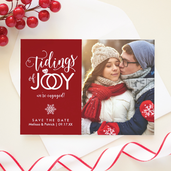 christmas save the date card