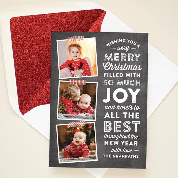 chalkboard lettering christmas card