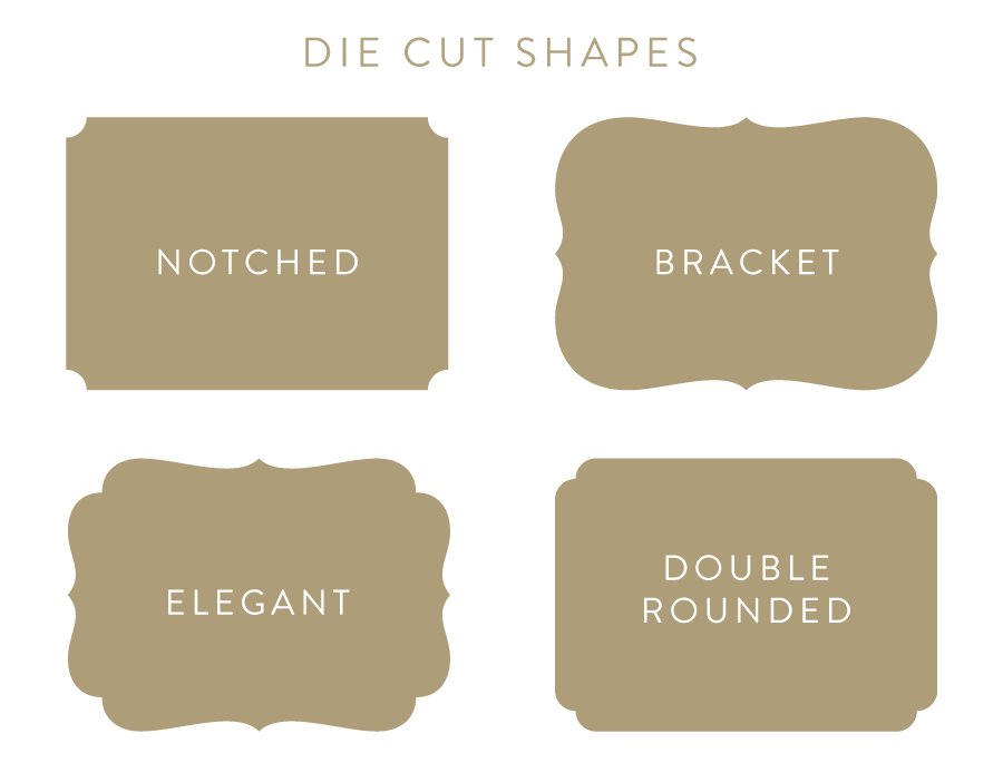 die cut shape options