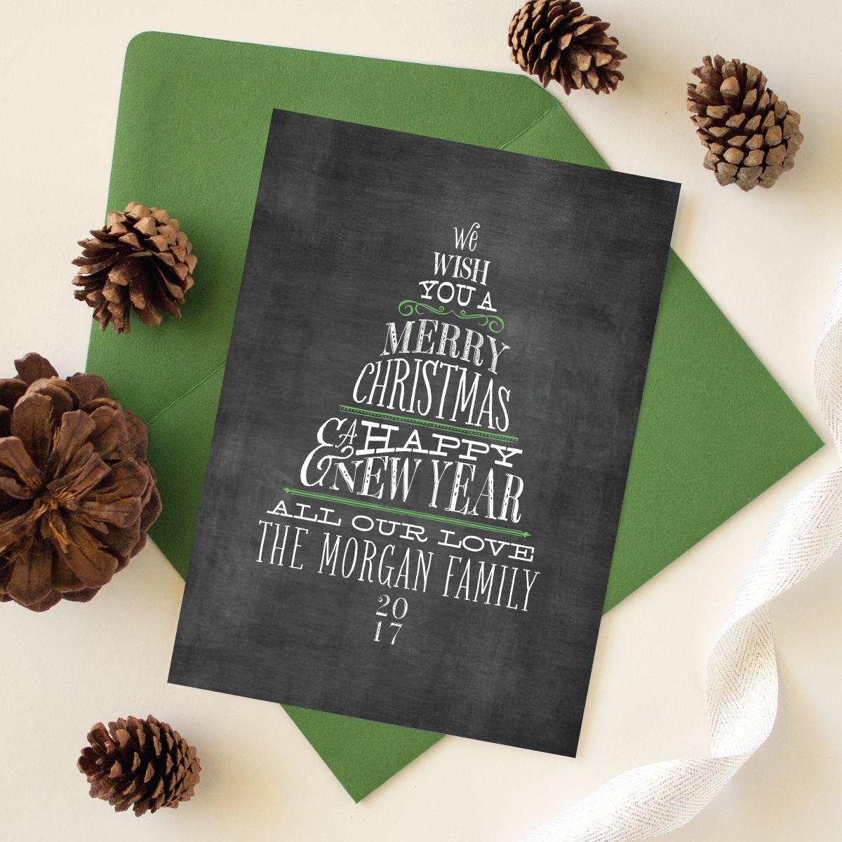 chalkboard lettering greeting card