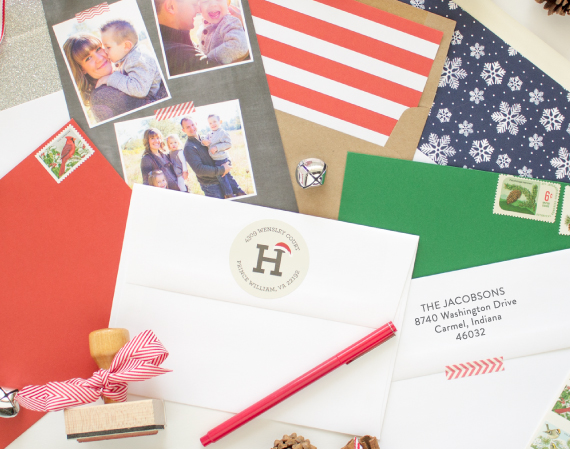 christmas card envelope addressing
