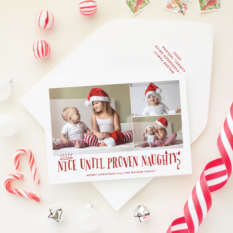 multi photo holiday card