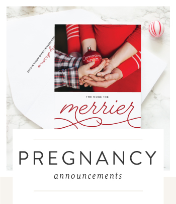 pregnancy announcement holiday cards